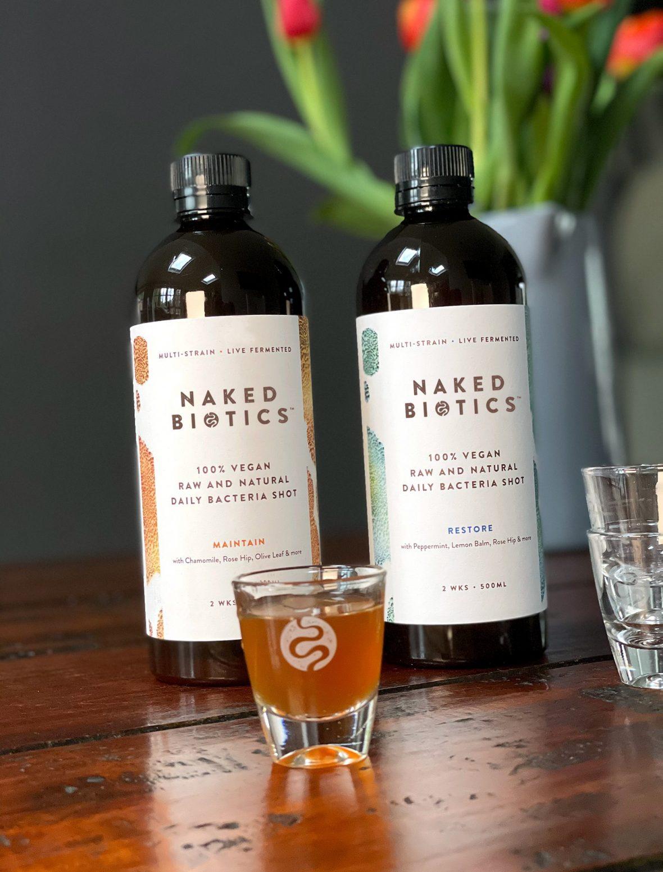 Work naked biotics bottles glass