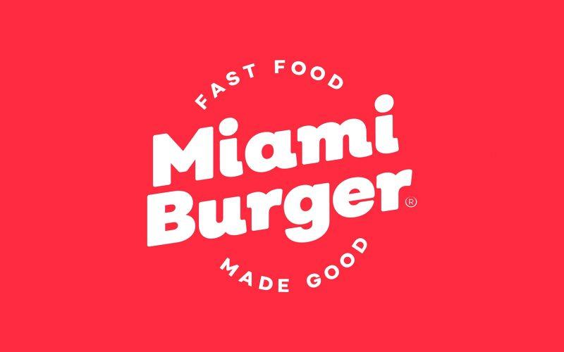 Work miami burger logo red