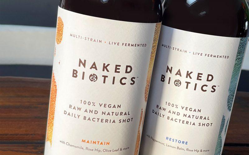Work naked biotics bottles labels