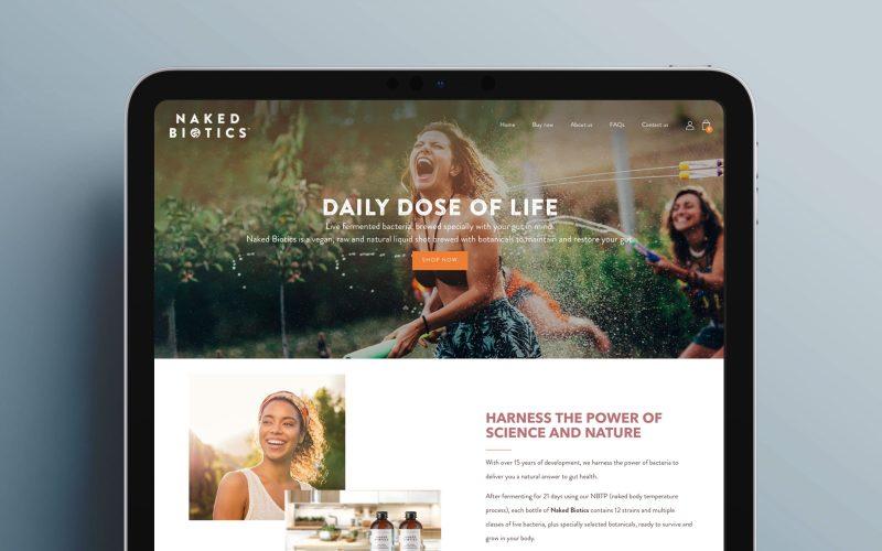 Work naked biotics website